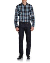 Michael Kors - Multicolor Bold Plaid Cotton Sport Shirt for Men - Lyst