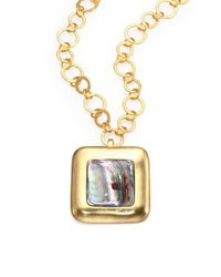 Stephanie Kantis | Metallic Blue Abalone Square Enhancer | Lyst
