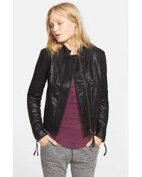 Free People - Black Faux Leather Jacket - Lyst