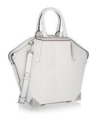 Alexander Wang | White Emile 3D Mesh-Effect Leather Shoulder Bag | Lyst