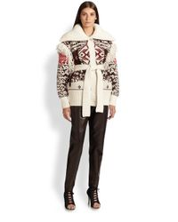 Emilio Pucci - Brown Leather Trousers - Lyst