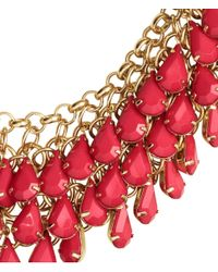 H&M - Red Necklace With Pendants - Lyst