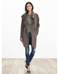 Banana Republic | Brown Belted Wrap Coat | Lyst