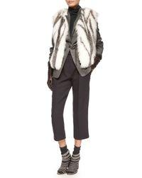 Brunello Cucinelli | Gray Cashmere-blend Mid-calf Socks | Lyst