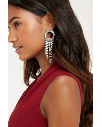 Oasis | Gray Cupchain Tassel Drop Earrings | Lyst