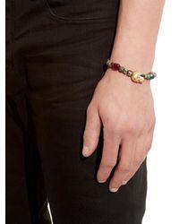 Luis Morais | Green Pearl, Ruby & Yellow-Gold Bracelet for Men | Lyst