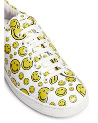 Joshua Sanders - White Happy Smile Leather Low-Top Sneakers - Lyst