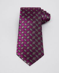 Armani - Purple Diamond And Rhombus Classic Tie for Men - Lyst