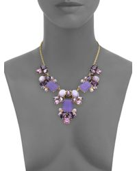 kate spade new york | Purple Glitzy Spritz Cluster Necklace | Lyst