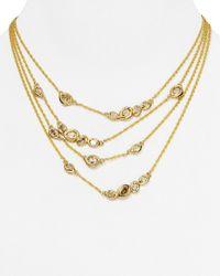 "Alexis Bittar | Metallic Elements Multi Strand Necklace, 16"" | Lyst"