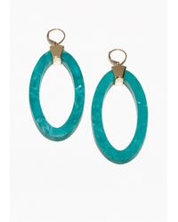 & Other Stories | Blue Marble-Effect Earrings | Lyst