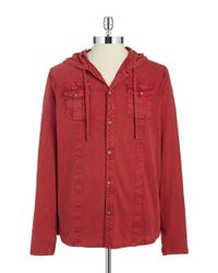 DKNY | Red Hooded Shirt for Men | Lyst