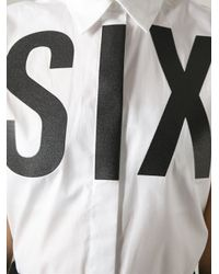 MM6 by Maison Martin Margiela - White 'Six' Sleeveless Shirt - Lyst