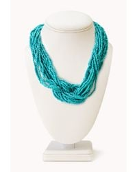 Forever 21 - Blue Eclectic Beaded Choker - Lyst