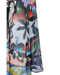 Clover Canyon - Blue Chiffon Riviera Sunrise Dress - Lyst