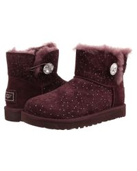 UGG - Purple Mini Bailey Button Bling Constellation - Lyst
