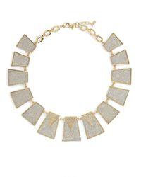 ABS By Allen Schwartz | Metallic Rectangular Collar Necklace | Lyst
