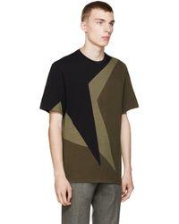 Neil Barrett - Black And Olive Macro Pop Art T_shirt for Men - Lyst