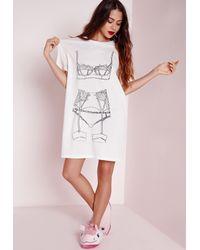 Missguided | Lingerie Night Shirt White | Lyst