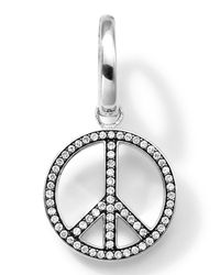 Ippolita | Metallic Sterling Silver Peace Sign Charm With Diamonds | Lyst