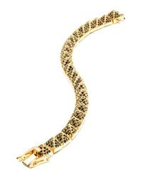 Eddie Borgo - Metallic Small Gold-plated Pave Crystal Pyramid Bracelet - Lyst