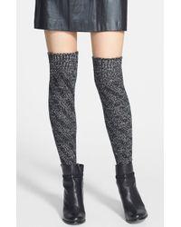 Kensie | Black Twisted Over The Knee Socks | Lyst