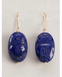 Aurelie Bidermann | Blue 'scarabs' Earrings | Lyst