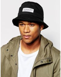 Mitchell & Ness - Black Label Logo Bucket Hat for Men - Lyst