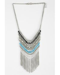 Urban Outfitters - Metallic Nirvana Beaded Bib Necklace - Lyst