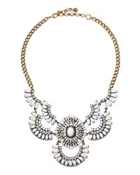 Lydell NYC | Metallic Tribal Crescent Bib Necklace | Lyst