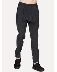 Jan Jan Van Essche - Black Loose Fit Track Pants for Men - Lyst