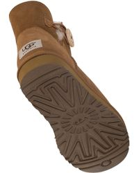 UGG - Brown Mini Bailey Button Chestnut Suede - Lyst