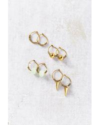 Urban Outfitters - Metallic Rocky Hoop Earring Set - Lyst