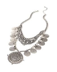 Forever 21 | Metallic Layered Medallion Necklace | Lyst