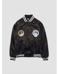 Asw Jackets - Black Nasa Patch Satin Award Jacket for Men - Lyst