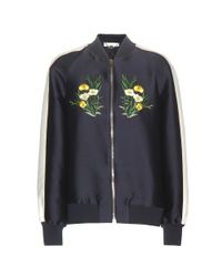Stella McCartney - Multicolor Embroidered Cotton-Blend Bomber Jacket - Lyst