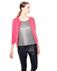 Liu Jo | Pink Cardigan With Jewel Button | Lyst