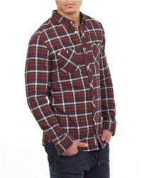 William Rast | Red Plaid Cotton Sportshirt for Men | Lyst