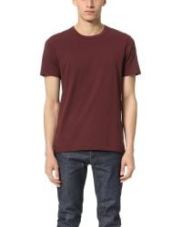 Steven Alan | Red Short Sleeve Jersey Tee for Men | Lyst