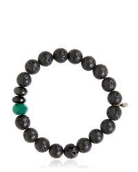 Ocnarf Sairutsa - Green Rock And Raw Bracelet - Lyst