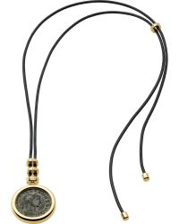 BVLGARI - Monete 18ct Yellow-gold Necklace With Antique Bronze Coin And Lace - Lyst