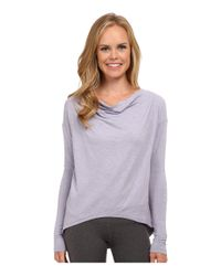 New Balance | Purple Draped Layer Long Sleeve Top | Lyst
