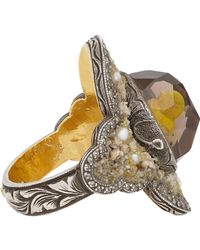 Sevan Biçakci - Brown Multi Gemstone, Gold & Silver Chick Intaglio Ring - Lyst