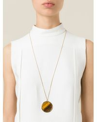 Givenchy | Metallic Stone Pendant Necklace | Lyst