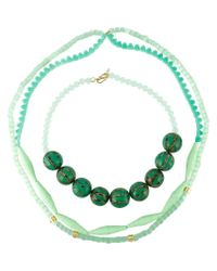 Wouters & Hendrix - Green 'miss Mae' Set Of Necklaces - Lyst
