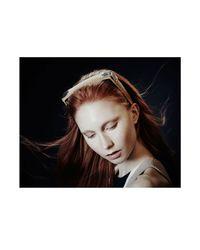 Colette Malouf   Black Haircalf Maneframe Headband   Lyst