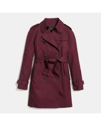 COACH - Purple Modern Trench - Lyst
