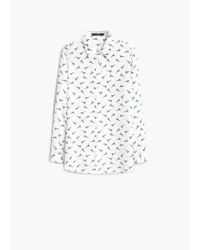 Mango | White Printed Shirt | Lyst