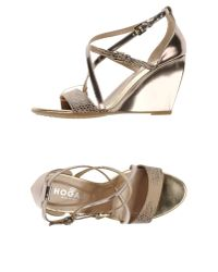 Hogan - Gray Sandals - Lyst