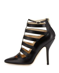 Jimmy Choo - Black Freeze Strappy Cage Pump - Lyst